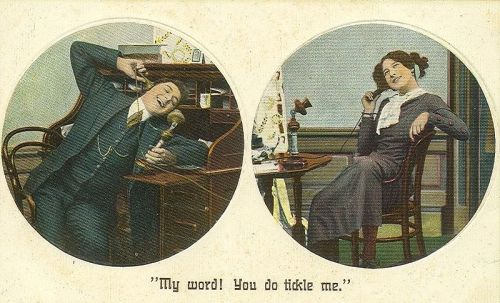 This 1910 postcard might be taking things a bit far, but we love writer Matt Powers' case for ditching the smart phones in favor of something more basic. Check it out and let us know what you think.