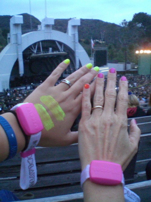our hands hehe mines the one on the left ;)