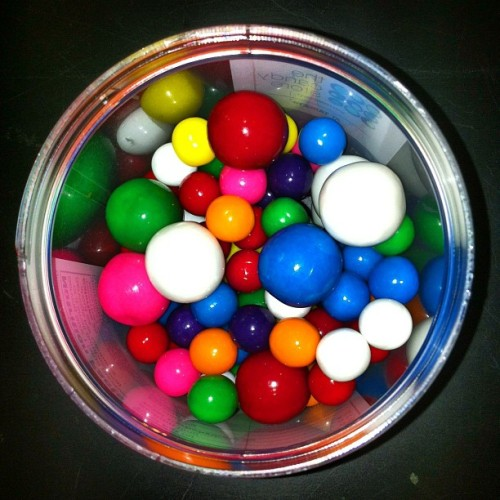 Gum balls.  (Taken with Instagram)