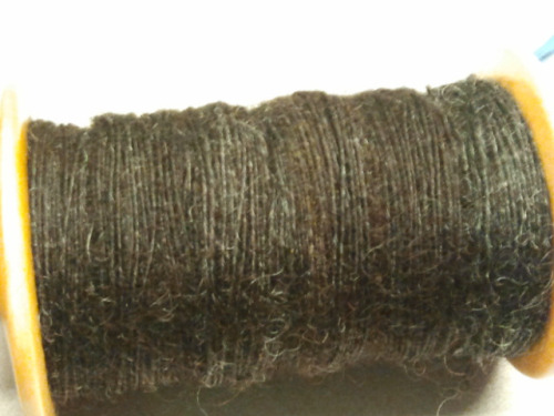 Leicester longwool singles on Flickr. This is the first bobbin of leicester longwool singles for my #sca a&s project. When plied, it'll be sock yarn