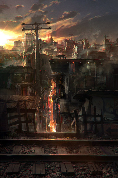 visions-and-revisions:  (via Rooftop Stroll by *JonasDeRo on deviantART)