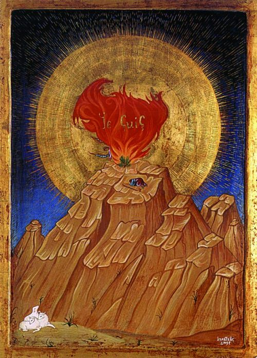 sacred-circle:  Moses and the Burning Bush, Atelier d'icones Karatzas