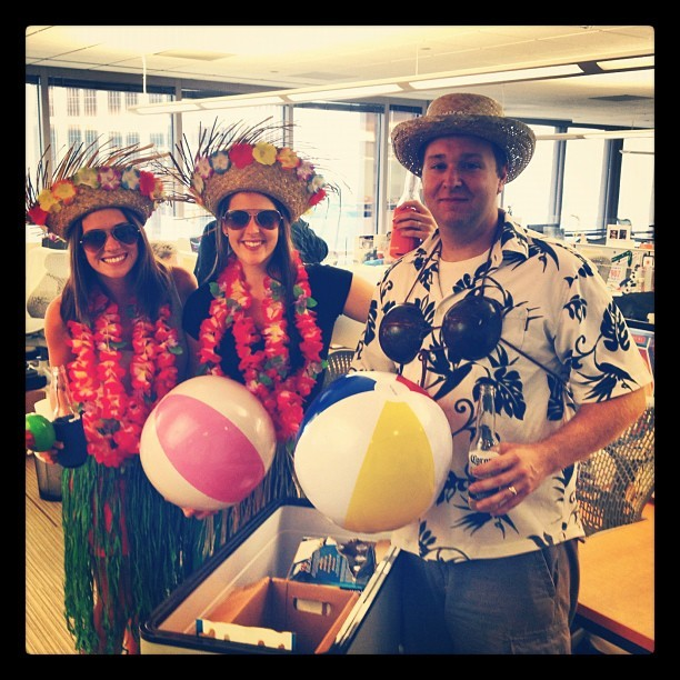 Beach balls, coconut bras and beer for @engauge #beercart today! (Taken with Instagram at Engauge)