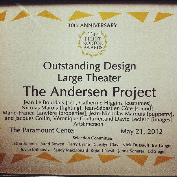 W00t! w00t! #elliotnortonawards #andersenproject #exmachina (Taken with Instagram)