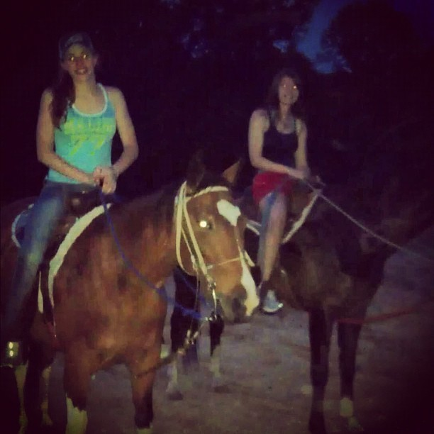 Horseriding with Rachel in sunman (Taken with Instagram)