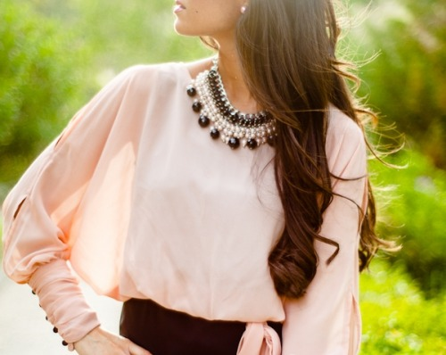 Pretty top and necklace! :) <3