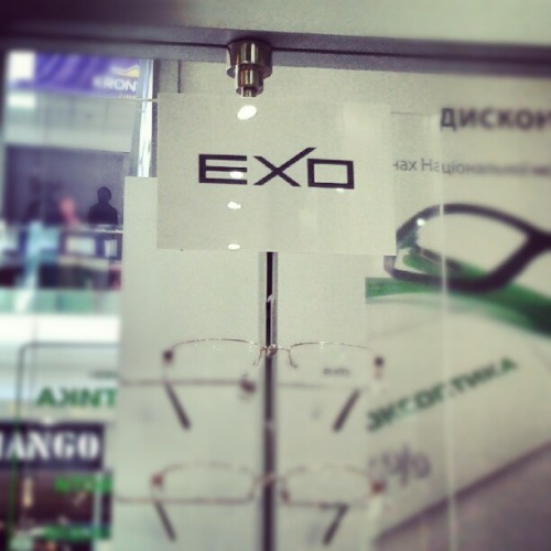Lol :D #exo #glasses #shop (Taken with Instagram)