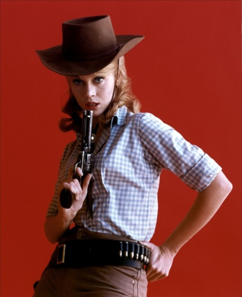Jane Fonda as Cat Ballou (1965).