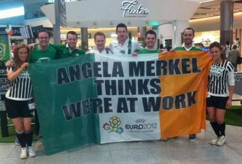irish fans at euro2012