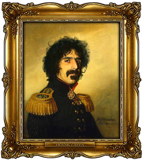 Buy This portrait here: http://bit.ly/replacefaceprints_FrankZappa