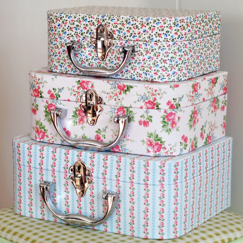 Back in stock!Mini floral suitcases, super cute! £13.50 for a set of 3.