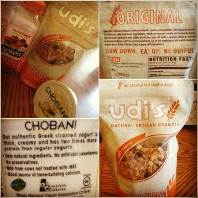 Healthy Eating #udi's #granola #naked #chobani #pineapple nom nom nom 😉😌😁🍴 (Taken with Instagram)