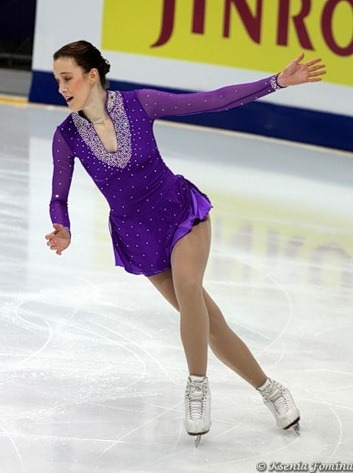Karina Johnson's elegant short program dress at the 2011 World Championships.