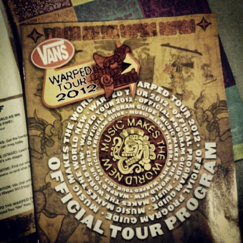 Look what just arrived! Who are we going to see there? #warpedtour  (Taken with Instagram)