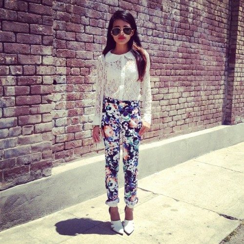 lusttforlifeblog:  Wearing a @SaboSkirt blouse and pants and #AlexanderWang pumps (Taken with Instagram)