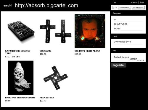 MORE Altars and CROSSettes have been added to the online shop…you can purchased your limited edition Junk Sculptures here: http://absorb.bigcartel.com/ or include some new music with your order and grab one from the NOA distro: http://noalabel.storenvy.com/collections/78201-sculptures-of-absorb All sculptures are numbered and hand made making each one unique!!