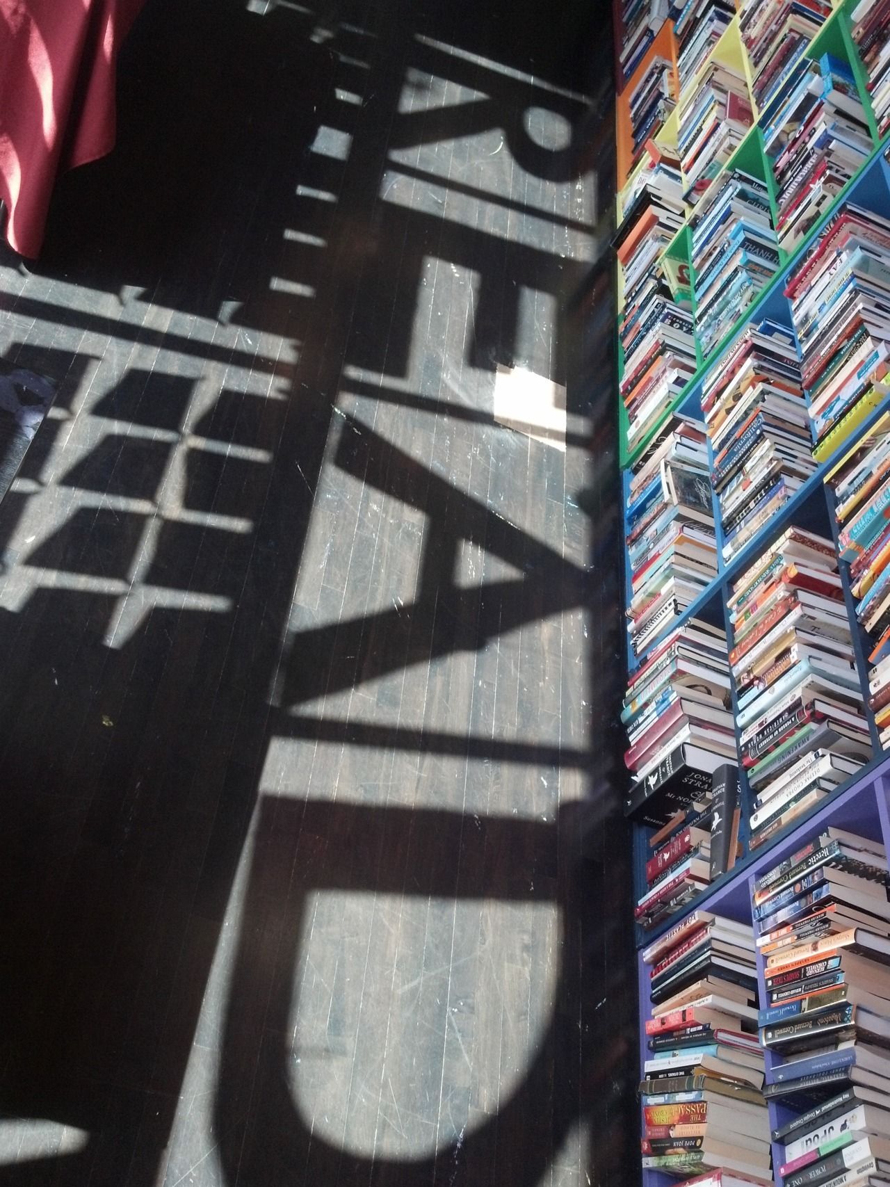 The shadows (in our store) know what lurks in the hearts of our customers! ^KE