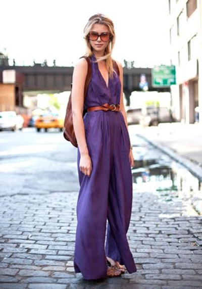 Brunching in a Chic Purple Pant Suit…West Village, NYC (via Market HQ)