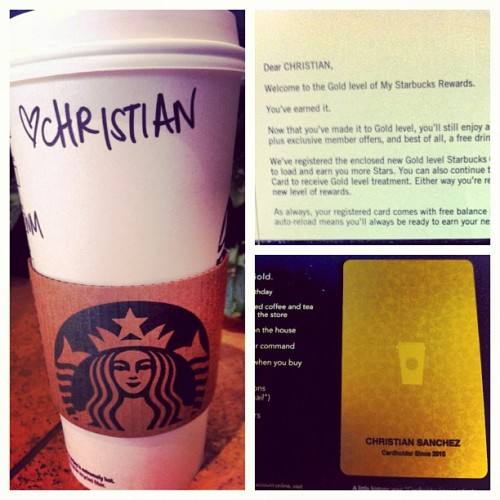 Well I finally have my #starbucks #goldcard. I betta werq tbh. ☕ #gwi #iphonesia #igdaily #statigram #ignation #instagood #instadaily #instagroove #jj   (Taken with Instagram)