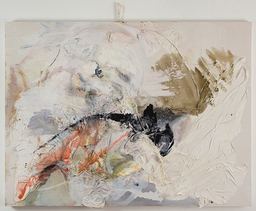 Lauren Luloff Rush 2009 Oil on bed sheets 60x80""