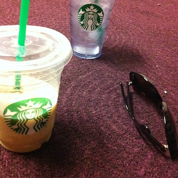 #Starbucks; SoyWhiteChocolateMochaFrapp and Ice Water (Taken with Instagram)