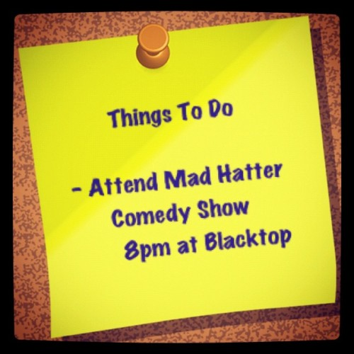 Comedy on a Friday night is a good thing http://bit.ly/LBJUFQ (Taken with Instagram)