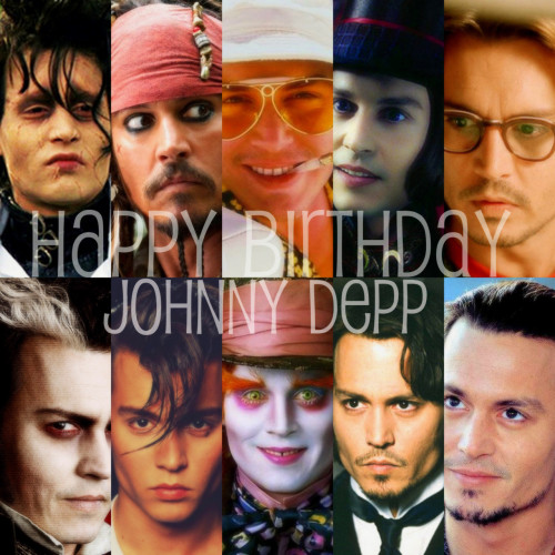 Happy 49th Birthday Johnny Depp.