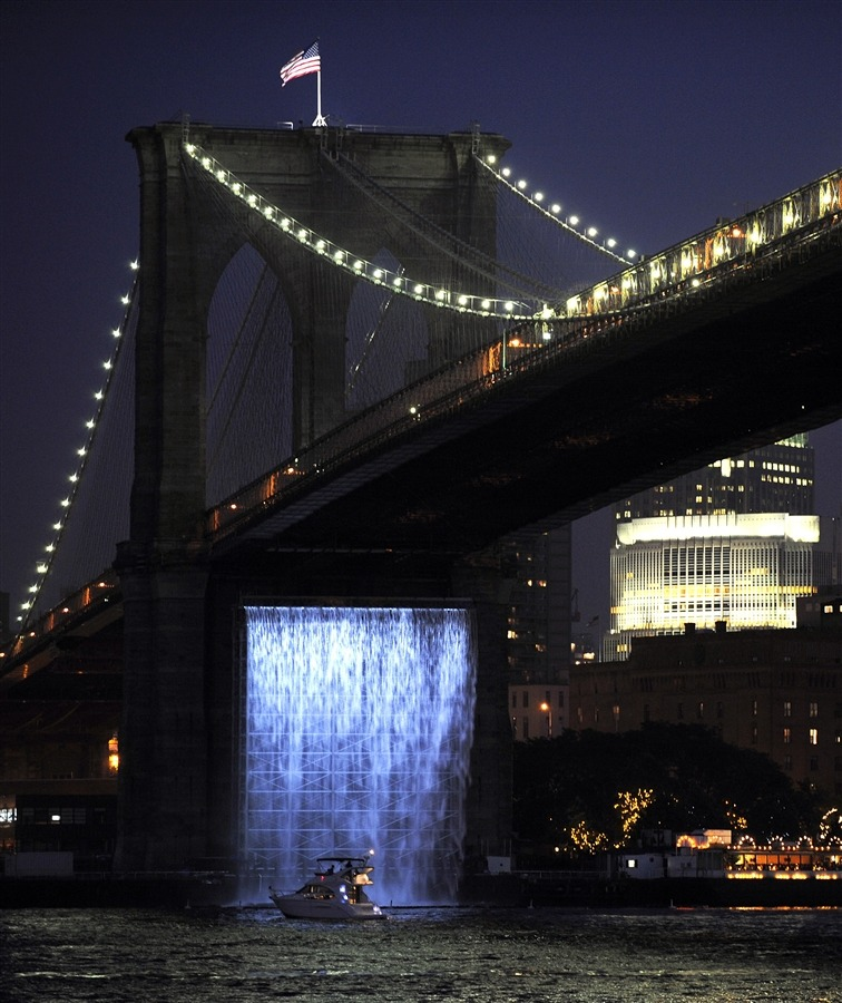 Danish artist Olafur Eliasson's New York City Waterfalls