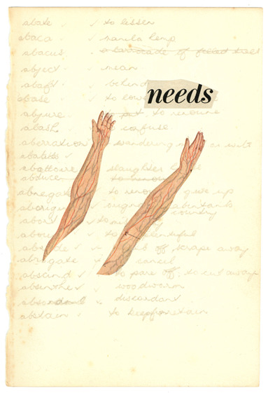 'Needs' by Victoria Ulrikke Iles.