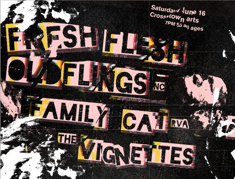 diymemphis:  FRESH FLESHOLD FLINGS (NC)THE VIGNETTES (MEM ROCK)FAMILY CAT (RVA) Doors at 7. Music at 8. $5. ALL AGES. Substance-free.