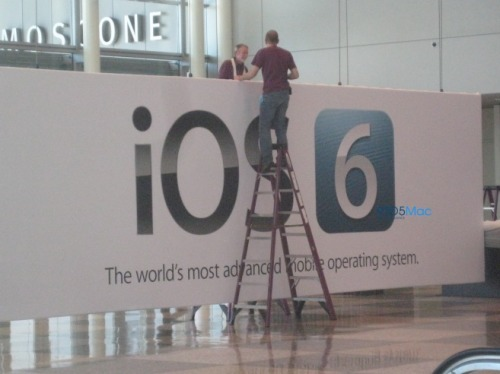 Good overview by 9to5Mac of what we're likely to see out of WWDC. I'll echo the talk that iOS 6 won't look all that different and instead will be more about refinement and things under the surface. Sort of surprised Apple would let the iOS 6 banner leak in such an obvious way.