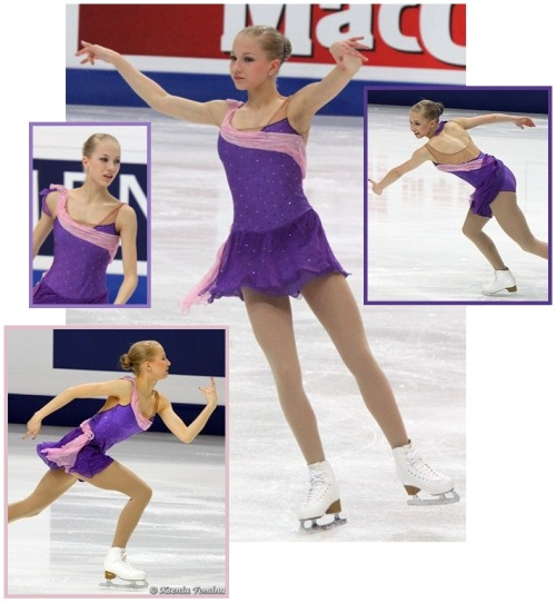 Juulia Turkilla performing her short program at the 2011 European and World Championships. Her music was Happy Valley by Vanessa-Mae. Sources: http://davecskatingphoto.com/photos/2011Euros/ladies/IMG_9830A.jpg http://davecskatingphoto.com/photos/2011Euros/ladies/IMG_9800A.jpg http://davecskatingphoto.com/photos/2011Worlds/ladies/jse_IMG_8433A.jpg http://fotki.yandex.ru/users/kkfksenia/view/364833?page=2