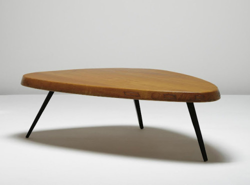 freyacat:  Free-Form coffee table by Prouvé and Perriand, c. 1953-56. (from midcenturia.com