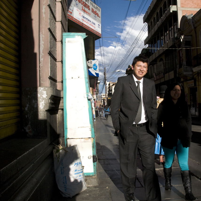Striped Tie, Striped Suit La Paz, Bolivia - © Diego Cupolo 2012