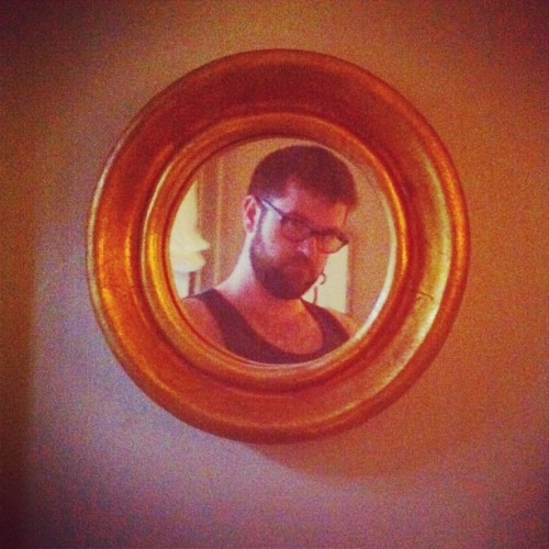 gold porthole cameo (Taken with Instagram)