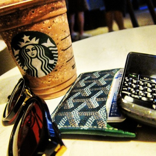 Double Chocolate Chip Frappuccino.  (Taken with Instagram)