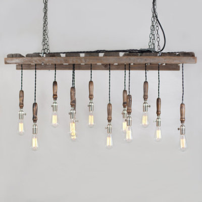 Wood Pallet Chandelier by typewriterboneyard
