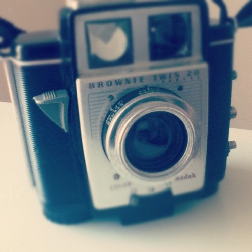 Vintage Kodak Brownie Twin 20 Camera :) #film (Taken with Instagram)