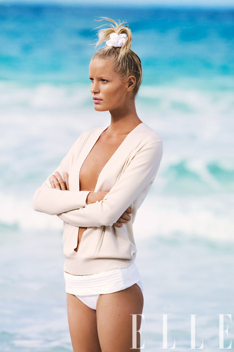 This season, take a less-is-more approach to swimwear More pics here Cashmere deep V-neck sweater, Calvin Klein Collection, $1,795, at Calvin Klein Collection stores nationwide, call 212-292-9000. Fold-over brief, Calvin Klein Swimwear, $45.