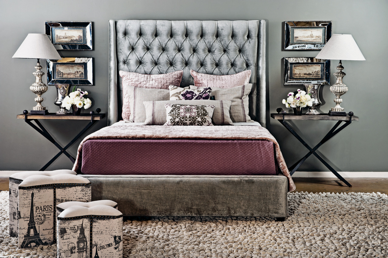"The Amelia Bed looks ravishing in the "" Night Light"" room idea. http://www.highfashionhome.com/room-ideas-night-light.html #Unique Home Decor #Modern Furniture"