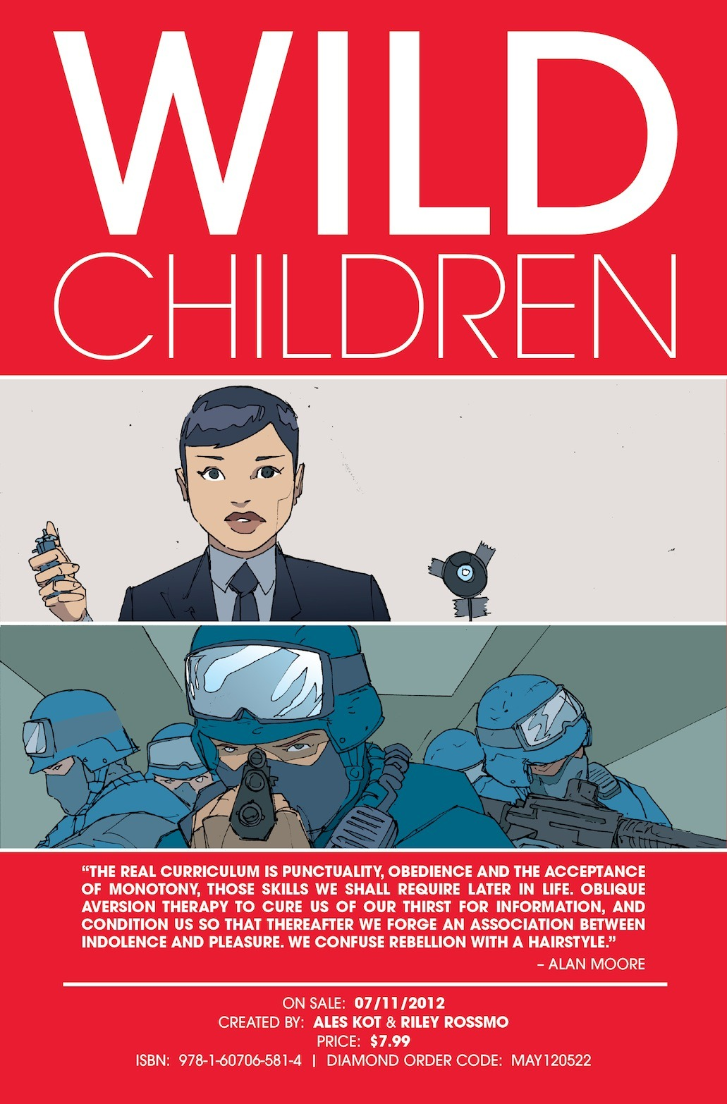 WILD CHILDREN by Ales Kot and Riley Rossmo, coming in July