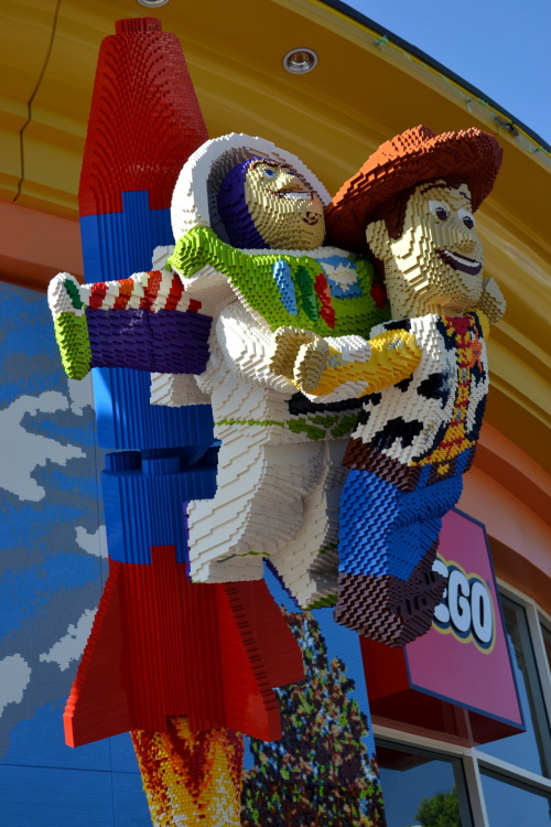 To infinity, and beyond!  Lego Buzz and Woody  Downtown Disney, CA
