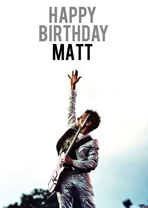 jamielovesmuse:  Happy 34th Matthew James Bellamy