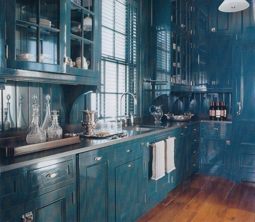 10 Bright, Bold Sets of Colored Kitchen Cabinets