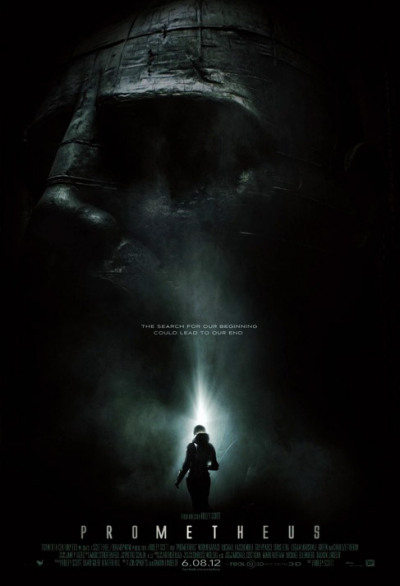"PROMETHEUS [2012] Prometheus, a prequel to Ridley Scott's ALIEN . The film starts off with a group of scientist who find cave findings and hieroglyphics with a strange pattern of lights. Flash forward a few years a crew of people [two of the scientist from the findings are included] wake up from a cryogenic sleep [Just like in Alien]. They hope to find a species of aliens said to live in a galaxy similar to ours. With it's own life source, and it's own sun. LV-223 The thought of this planet is that the aliens that live there are our actual creators. The crew sets out to find proof of their existence, to see if we come from them, and if we do, why? As the crew ventures into the planet the suspense starts to settle in. The atmosphere was captured perfectly, dark, damp, and eerie. They find something, that could answer some of mankind's questions. The movie is shot well, the planet looks awesome, and a lot better than I expected. I was expecting your typical sci-fi ""planet"". Lot's of rock and sand, and no depth. But what you get here is nothing like that. On the exterior, the planet looks desolate, but once they enter further into the planet we get layers, and some incredible visuals.  The movie doesn't pick up right away, Ridley does a great job setting up the atmosphere, keeping you waiting for it to all come down. When it does, it comes with a wrath, and fury. Maybe the answers they were looking for wasn't worth the trip to ask. What would happen when your beliefs are questioned, when you finally find a source to every question imaginable, and what if then, the things you believed in the most were to turn on you. This film takes the creators and makes them the destroyer.  If you're looking for a good horror sci-fi film, look no further. This movie has the whole package. Atmosphere, suspense, science fiction, and terror. The acting was on point, the escalation between the characters, the tension, and the build up was all awesome.  I was hoping to see some type of homage to ALIEN. I did, and it ruled.  Go watch Prometheus, and keep your mouth closed. [You'll see]. The film did have some cliche moments, but what sci-fi flick nowadays doesn't? But overall Ridley Scott did not disappoint.  7.75/10 rotting corpsesC Vengeance"