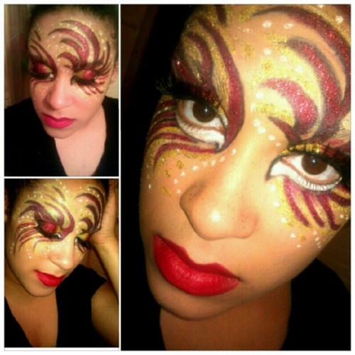 Creative Carnival Look =p #makeup #cosmetology #faceart (Taken with Instagram)