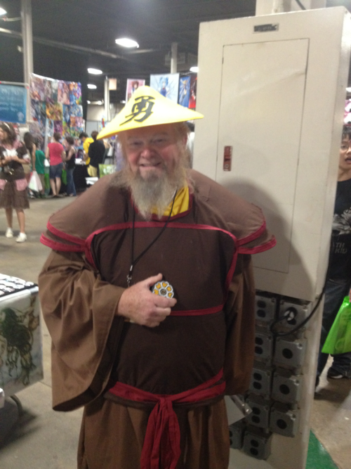 madelinelime:  princesiksta:  yokothetypo:  norsed:  THIS GUY WAS COSPLAYING UNCLE IROH /UNCLE IROH/  he's the best  He was such an awesome guy and I got the chance to get a hug and chat. He's only been cosplaying for 2 years. He's amazing!  I love this guy so much. I gave him a free print of my Fire Lord Zuko portrait last year at ANext because he is amazing. I'm amused he puts up with animu cons to cosplay. I hope someday I see him when I'm cosplaying Ursa again!  I think I saw him with a Zuko at SDCC. He posed for the pic and started lecturing Zuko in Mako's voice. It was excellent.
