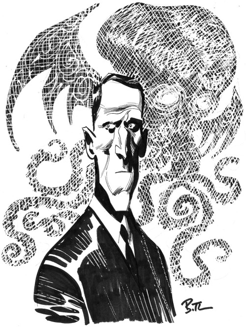 fckyeahhplovecraft:  Bruce TimmH. P. Lovecraft
