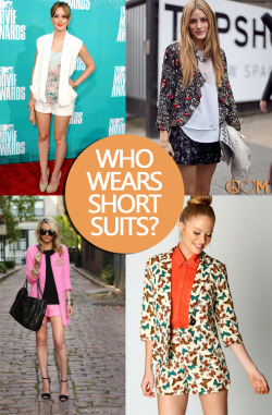 (via Peace, Love & Magazines: Trend Alert: Short Suits)
