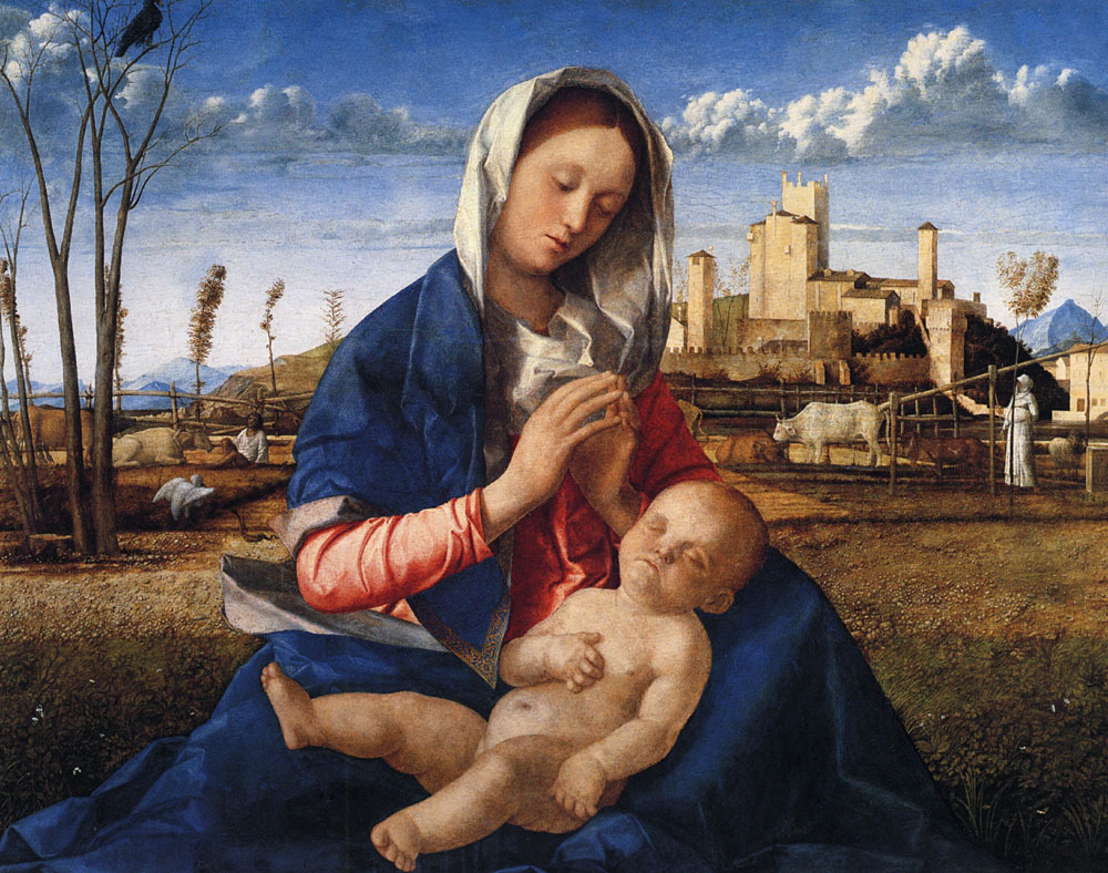 fleurdulys:  The Madonna of the Meadow - Giovanni Bellini